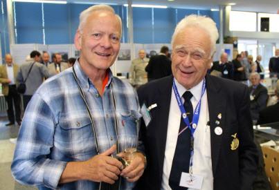 Wolfgang Schmidt (links) lebte als Kind auf dem Militärgelände in Gatow, wo Geoffry Smith (rechts) stationiert war